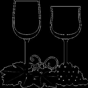 copa de vidrio tipos borgoña y burdeos