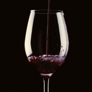 Copa de vino grande de cristal transparente