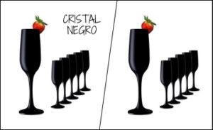 Copas negras de cristal para vino