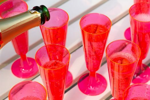 Copas de vino de plástico