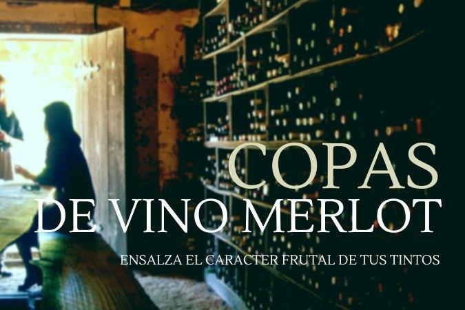 Copa Merlot para vino tinto