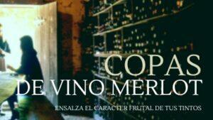Copas de vino tinto Merlot