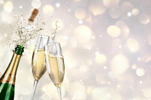 Copas de champagne de plástico