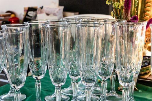 Copas de vino de cristal de bohemia baratas