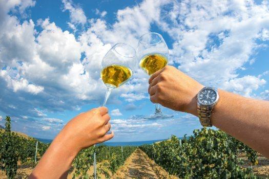 Copas de cristal soplado para vino