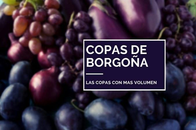 Copas de Borgoña de cristal para vino tinto