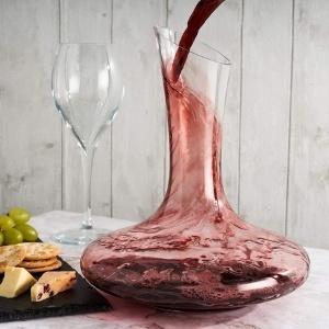 Decantadores de vino de cristal Oak & Steel